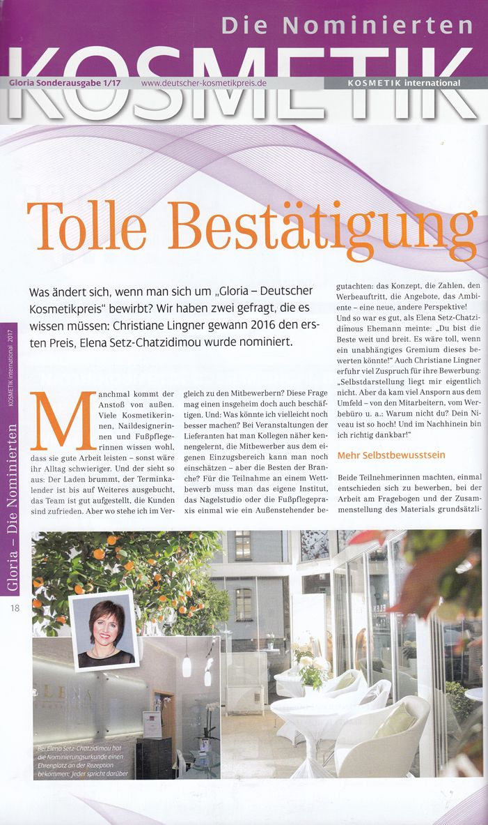 KOSMETIK international gloria Sonderausgabe 03-2017 BABOR Christiane Lingner 1