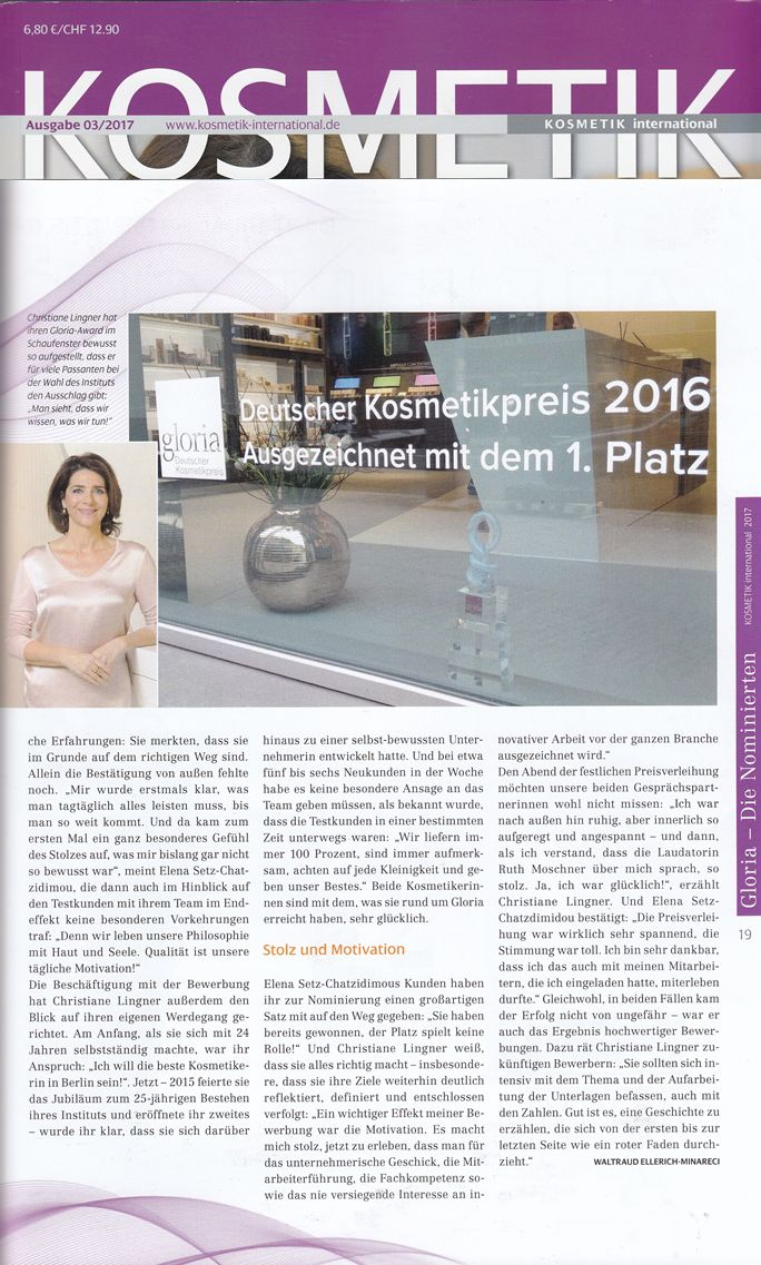 KOSMETIK international gloria Sonderausgabe 03-2017 BABOR Christiane Lingner 2