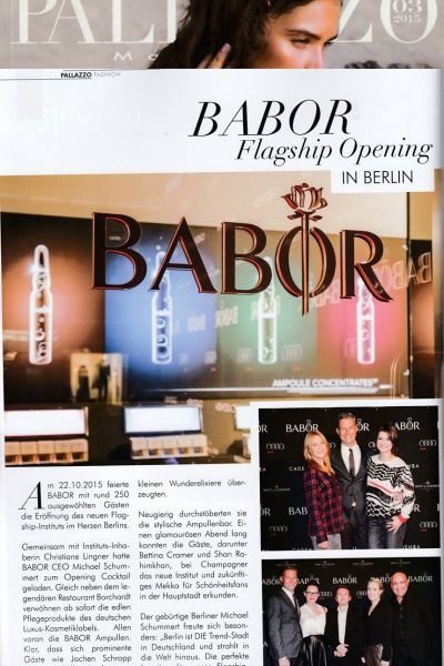 20150301 PALLAZZO BABOR Flagship Berlin Opening 2